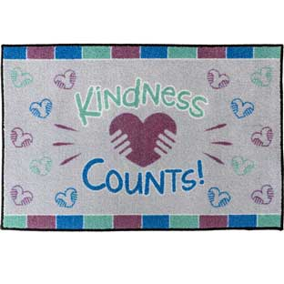 Kindness Counts Welcome Mat