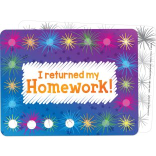 Homework Return Tracking Cards  24 Pack