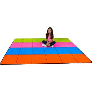 "7'6"" Neon Pop Rug – 4 Colors – 24 Squares"