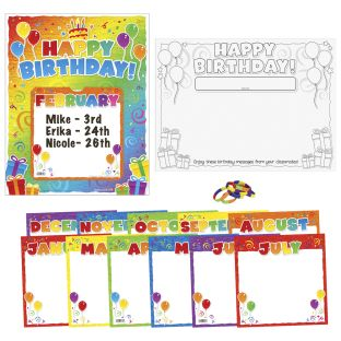 Happy Birthday! Bracelets, Desktop Tents, And Posters Kit - 1 multi-item kit