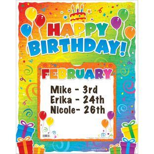 Happy Birthday! 6-In-1 Poster Set