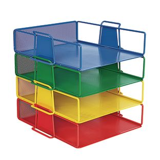 Stackable Letter-Size Wire Rack  4 Colors - 4 trays