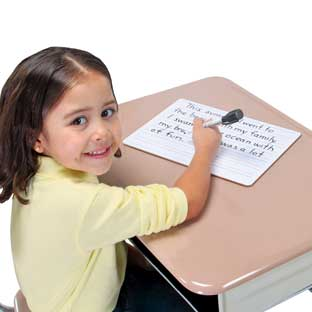 Two-Sided Primary-Lined Dry Erase Boards - Set Of 12