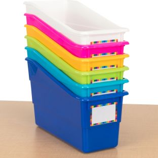 Durable Book and Binder Holders - Set Of 6 - Tropics