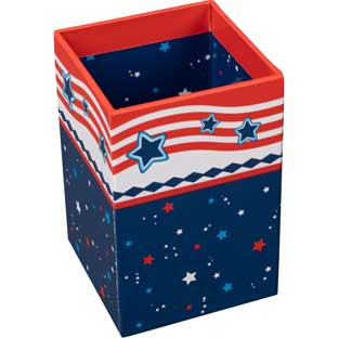 Star-Spangled Teacher Pencil Cup - 1 cup