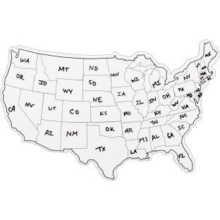 USA Shaped Dry Erase Boards - Set Of 6