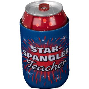 Star-Spangled Teacher Beverage Sleeve - 1 beverage sleeve