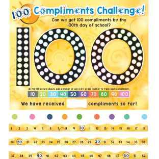 We Are 100 Days Brighter Poster And Number Line Kit - 1 multi-item kit