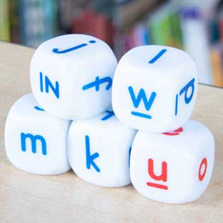 Lowercase Letter Dice - 5 dice
