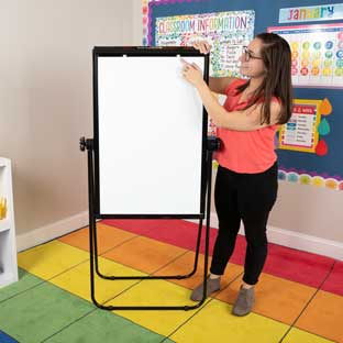 "Portable Magnetic Dry Erase Easel 35"" By 23"" - 1 easel"