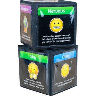 Emoji Feelings Cards And Cubes - Set of 12