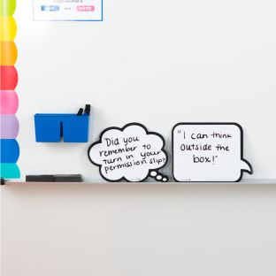 Shaped Dry Erase Boards – Speech And Thought Bubbles - 2 dry erase boards