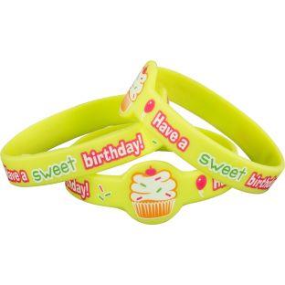 Cupcake Birthday Bracelets