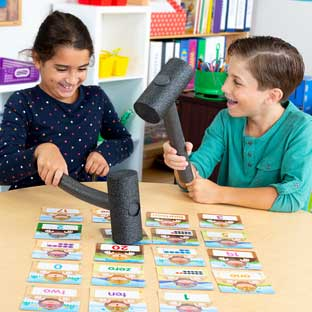 Whack-A-Number Game - Visual, Tactile and Auditory Learning for Fluency in Number Identification - Pre-K, Kindergarten, 1st Grade