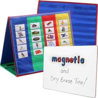 Desktop Pocket Charts, Stand and Magnetic Board Kit