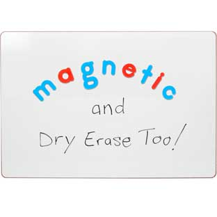 "Write Again® 18"" X 12"" Magnetic Dry Erase Board And Magnetic Letters - 1 board, 137 letters"