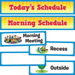 Whole-Class Visual Schedule Pocket Chart Cards - 27 cards