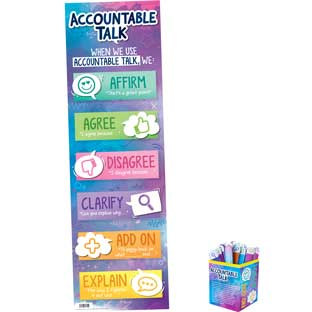 Accountable Talk Sticks And Banner Kit - 1 banner, 54 sticks