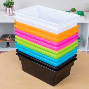 All-Purpose Bins – Set Of 12 – 6 Colors Neon Pop