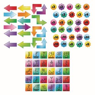 EZ Stick Sensory Path  Get Moving - 98 decals