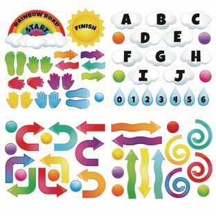 EZ Stick Sensory Path  Rainbow