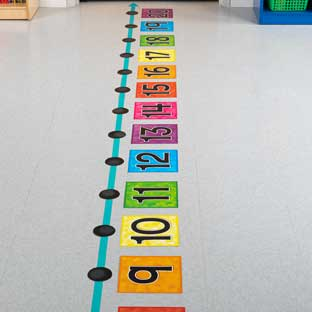 EZ Stick Jumbo Number Line - 66 pieces