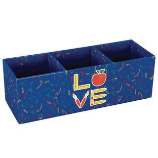 Love of Teaching 3-Section Desk Organizer