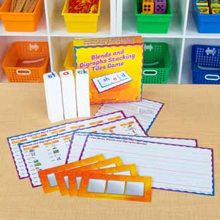 Blends And Digraphs Stacking Tiles Game - 1 game