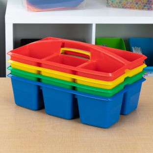 Multi-Use Storage Caddies  4 Colors  Set Of 4