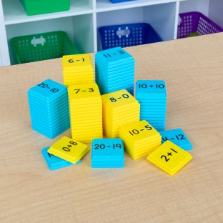 Addition And Subtraction Basic Facts Stacking Tiles - 100 tiles