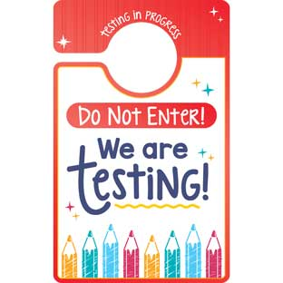 Testing, Testing, 1, 2, 3 Door Hanger