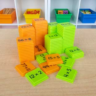 Multiplication And Division Basic Facts Stacking Tiles