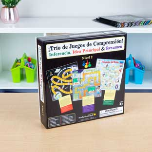 Spanish Comprehension Game Trio: Inference, Main Idea and Summary (Tro De Juegos De Comprensin! Inferencia, Idea Principal y Resumen)
