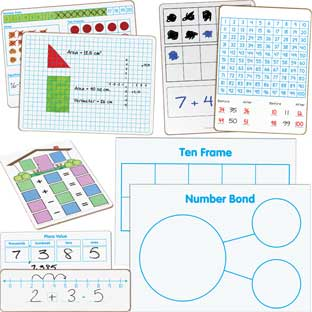 Math Small Group Dry Erase Board Kit - Primary - 1 multi-item kit