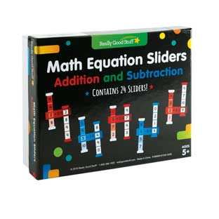 Math Equation Sliders: Addition and Subtraction