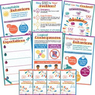 Classroom Expectations And Behaviors Kit - 6 posters, 24 journals