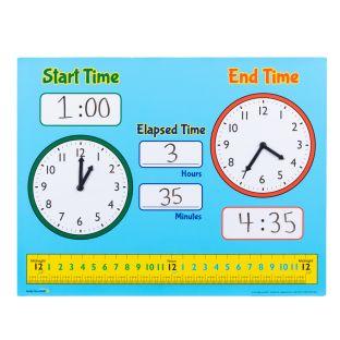 Elapsed Time Magnetic Demonstration Clocks
