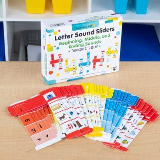 Letter Sound Sliders: Beginning, Middle, and Ending Sounds