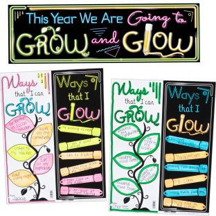 Ready-To-Decorate GROW And GLOW Bulletin Board Set