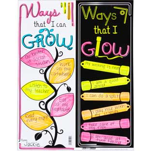 Ready-To-Decorate GROW And GLOW Posters - 24 posters