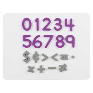 Plastic Magnetic Numbers And Math Symbols