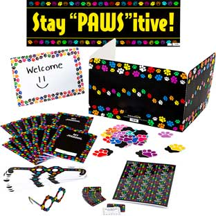 Paw Prints Classroom Kit and Privacy Shields™ - 24-Student Set