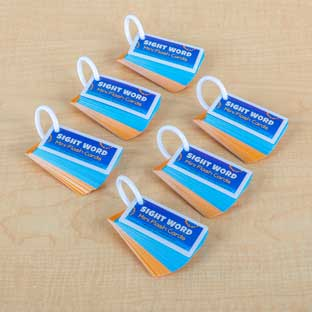 Sight Word Mini Flash Cards - 6 sets of 50 cards