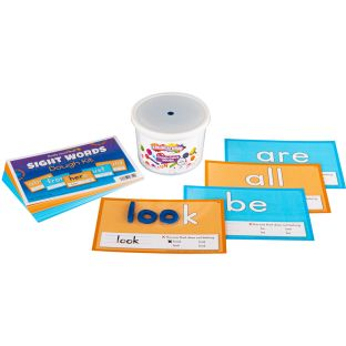 Sight Words Dough Kit - 50 task cards, 1 tub of dough