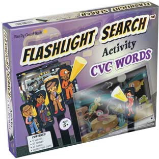 Flashlight Search Activity  CVC Words - 1 game