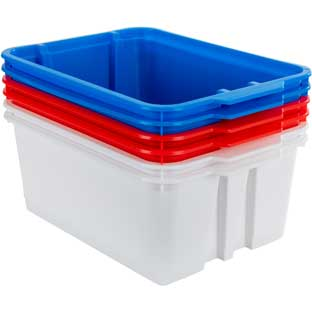 Classroom Stacking Bins – Patriotic – Set Of 6