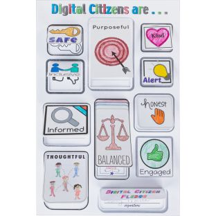 Ready-To-Decorate Digital Citizenship Lift-A-Flaps - 24 posters