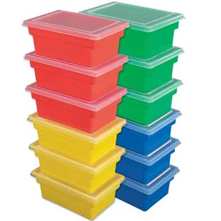All-Purpose Bins And Lids  Set Of 12  4 Colors