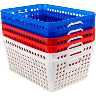 Large Baskets – Patriotic – Set Of 6