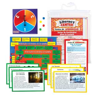Centro de Aprendizaje: Juego de Estrategias para la Lectura Nivel 1 (Spanish Reading Strategies Game Literacy Center, Level 1)